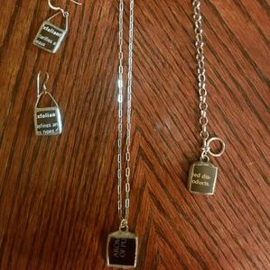 Jewelry - Unique Upcycled Glass and Silver Jewelry Set